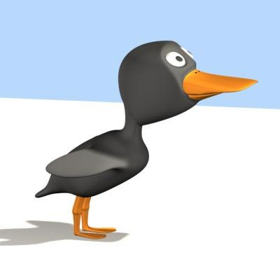 3d cartoon duck