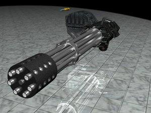 mini gun 3d model