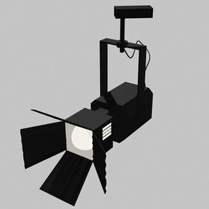 3d spot light 02 lamp model