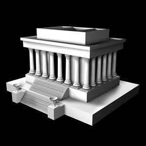 memorial washington landmark c4d
