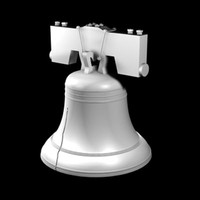 liberty bell 3d c4d