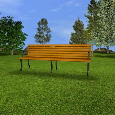 park bench c4d free