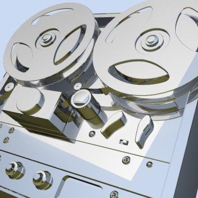 3d akai reel tape recorder
