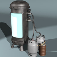 3d cryogenic freezing chamber model