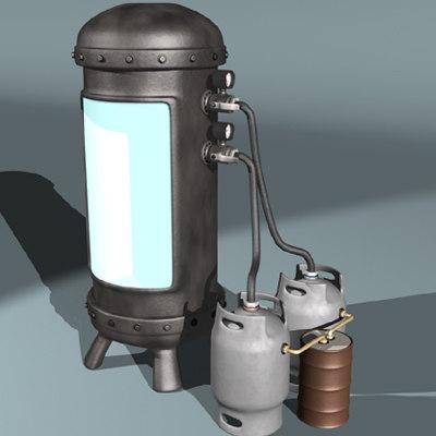 3d cryogenic freezing chamber model