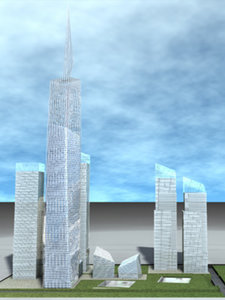 freedom tower building 3d model