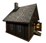 3ds medieval hut