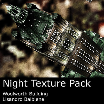 3ds max night woolworth building pack