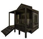 medieval hut 3d 3ds