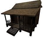 hut cottage building 3d model