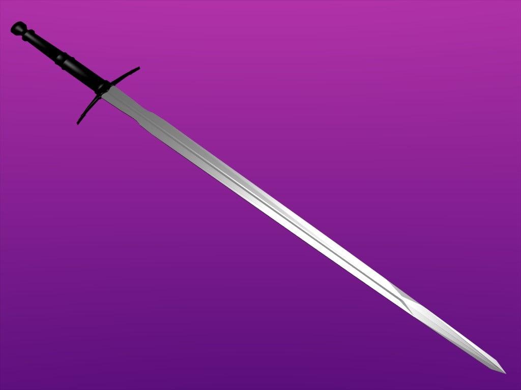 3d sword sword model