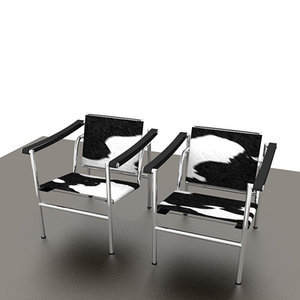 lc1 chairs 3d model
