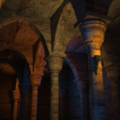 3d catacombs dungeon model