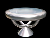 chrome glass table 3d max
