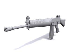 singapore rifle weapon 3d model