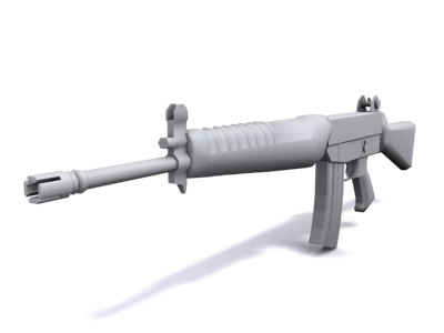 singapore rifle weapon 3d model