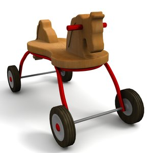 toy horse bike 3d model