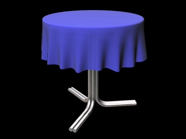 3ds max chrome table