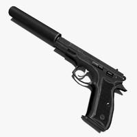 gun cz-75 3d model