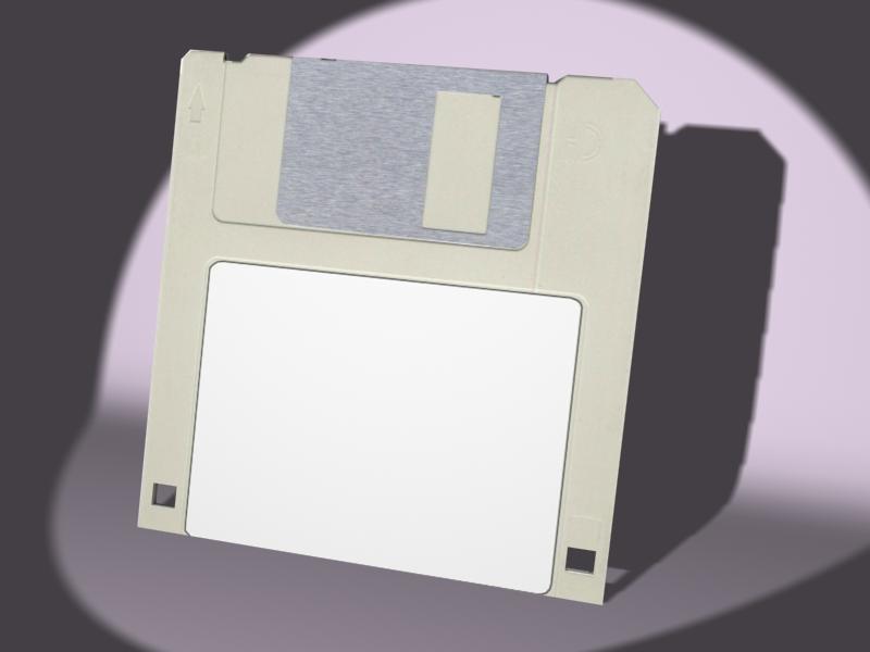 free floppy disk 3d model