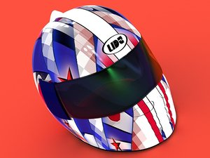 crash helmet 3d