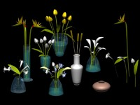 flowers vases 3d max