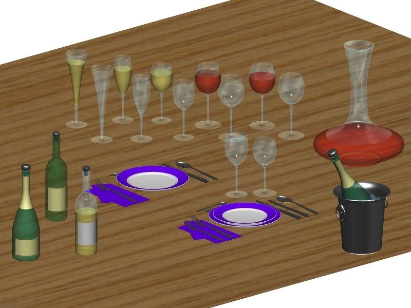 glasses wine champagne max