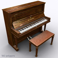 3d piano steinway model