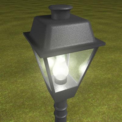 victorian street lamp 3d max