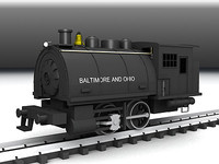 3ds max steam locomotive 0-4-0 dockside