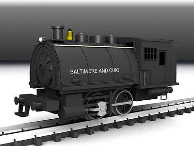 3ds max steam locomotive 0-4-0 dockside