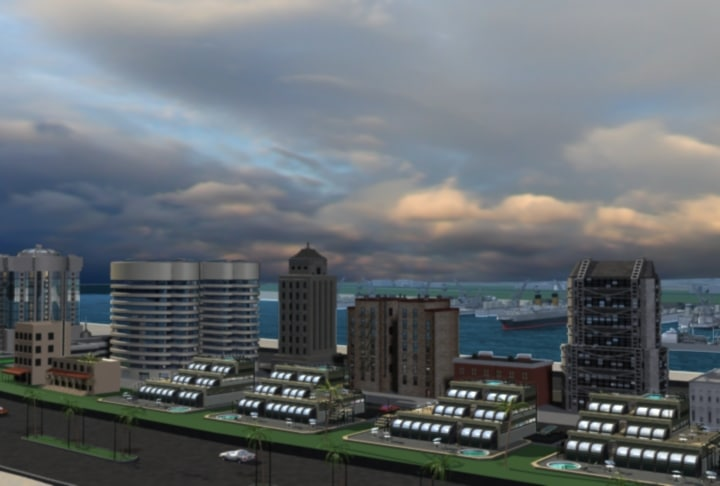 3d model beach city blvd condos