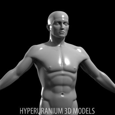 human body 3d model