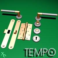 3d max door handle knob