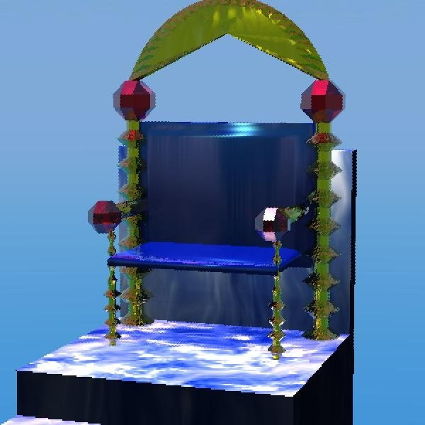 3d model jeweled throne bryce