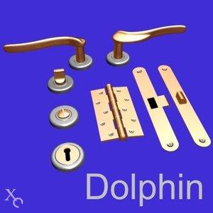 3d model door handle knob