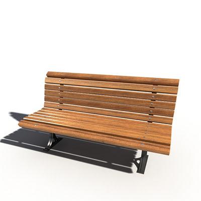 3d street bench model
