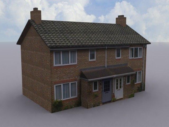 terraced house 3d 3ds