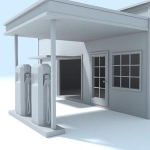 filling station old 3d model
