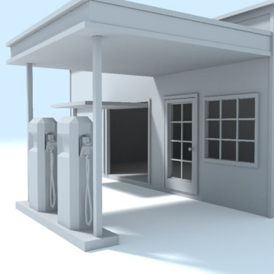 filling station old 3d model
