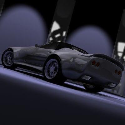 tuned sport car 3d model