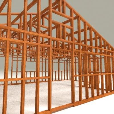 framework house 3d model