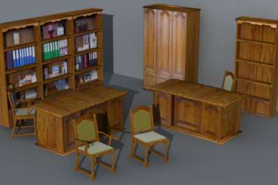 3d model rustic furnitures