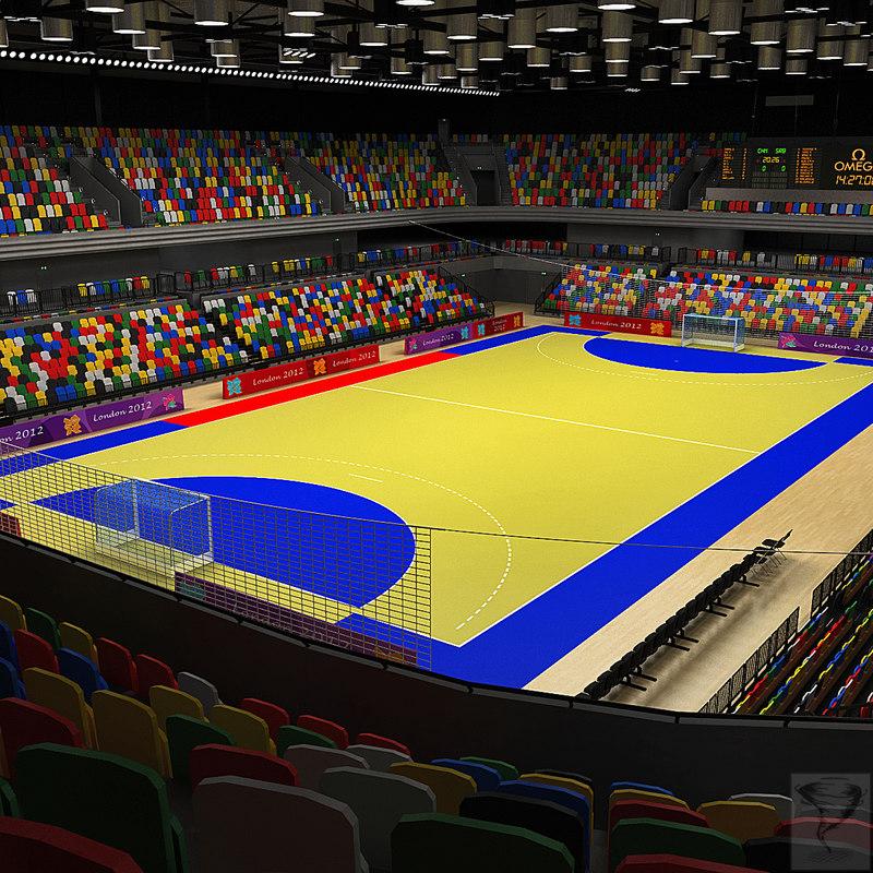 handball arena london 3d model