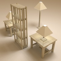 3d living furniture ll model