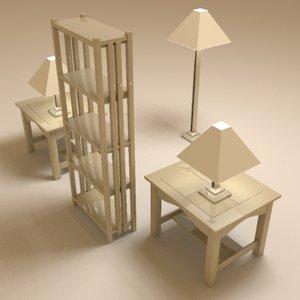 3d living furniture ll model
