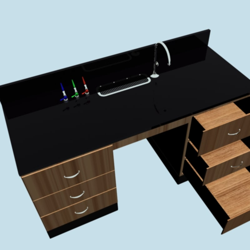 3d model lab bench minisink utilities