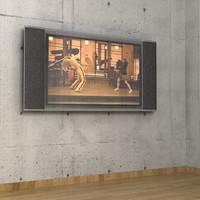 plasma tv 3d max