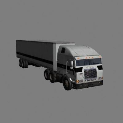 3ds max 18 wheeler w trailer