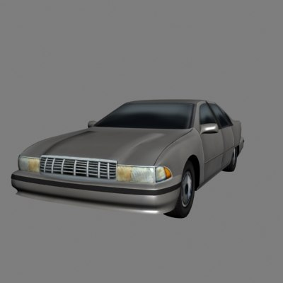 chevy caprice luxury car 3d model